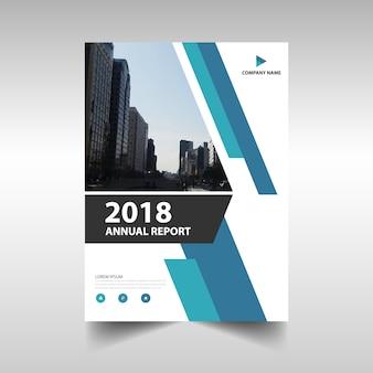 Modelo de relatório anual criativo azul