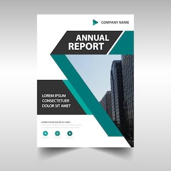 Modelo de relatório anual criativo verde