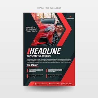 Modelo de relatório anual de capa de folheto de folheto de folheto de carro