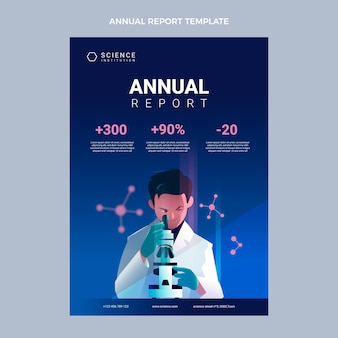 Modelo de relatório anual de ciência da gradiente