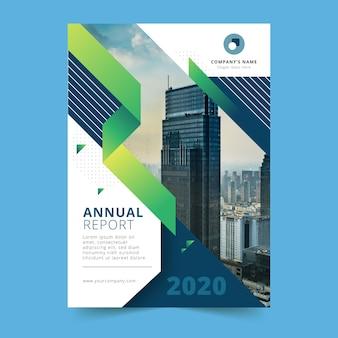 Modelo de relatório anual de construção de cidade grande
