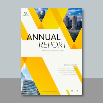 Modelo de relatório anual de design abstrato