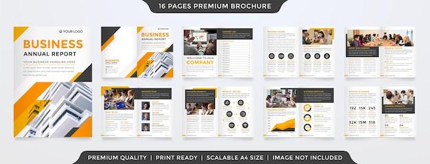 Modelo de relatório anual de negócios estilo premium