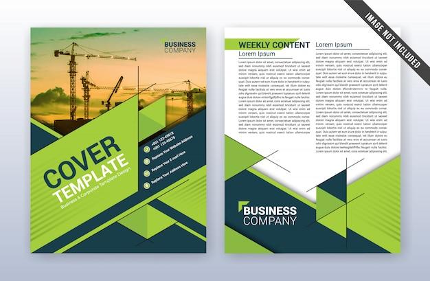 Modelo de relatório anual de negócios modernos