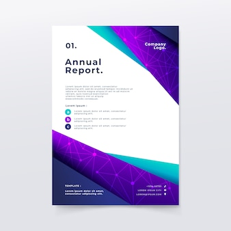 Modelo de relatório anual em estilo abstrato