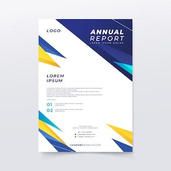 Modelo de relatório anual multicolorido