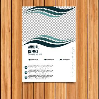 Modelo de relatório anual ondulado