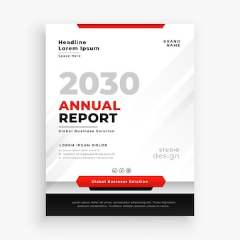 Modelo de relatório anual profissional