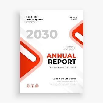 Modelo de relatório anual vermelho