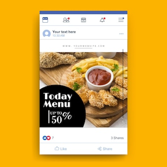 Modelo de restaurante de comida no facebook