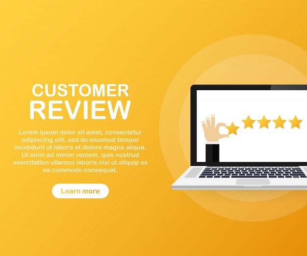 Modelo de revisão do cliente