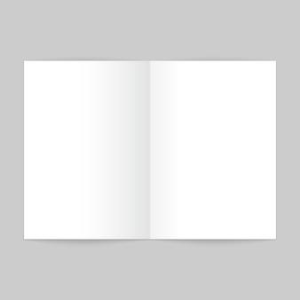 Modelo de revista aberto em branco. maquete de brochura