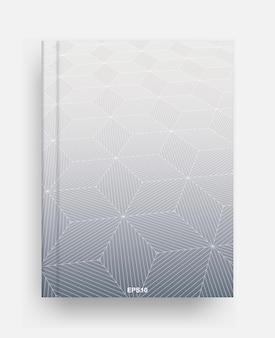 Modelo de revista com capa de fundo geométrico de meio-tom. capa de modelo de caderno para segundo plano. ilustração vetorial.