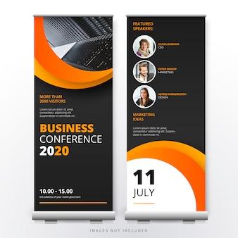 Modelo de roll up de conferência de negócios