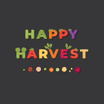 Modelo de rotulação de colheita feliz