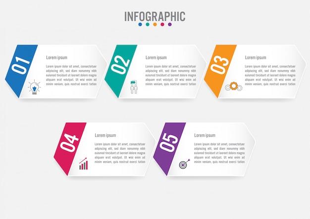 Modelo de rótulos de infográfico de negócios