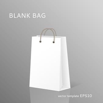Modelo de sacola de compras em branco