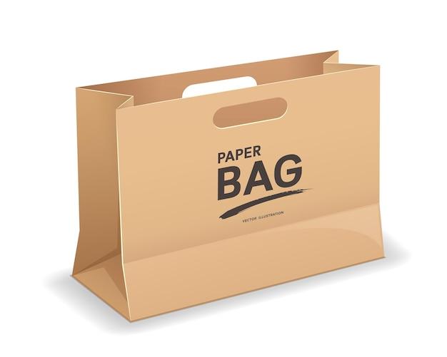 Modelo de sacos grandes de papel pardo com alças