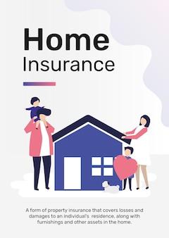 Modelo de seguro residencial para pôster