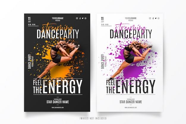 Modelo de show de streaming de dança