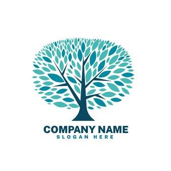 Modelo de símbolo de logotipo de árvore de vida da empresa