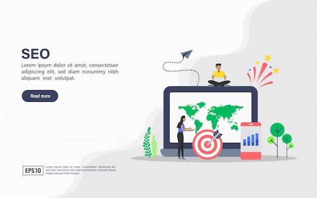 Modelo de site da página de destino de seo