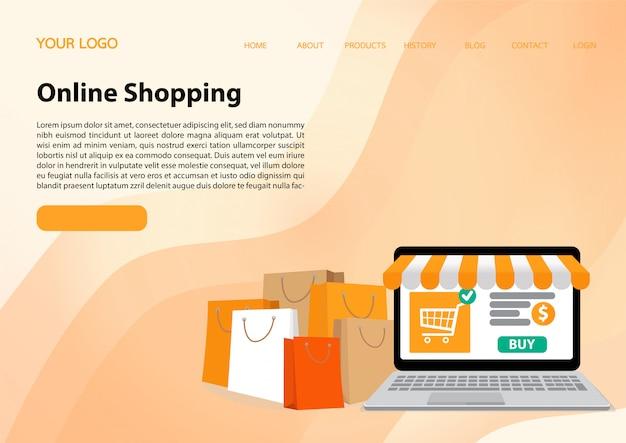 Modelo de site da página de destino