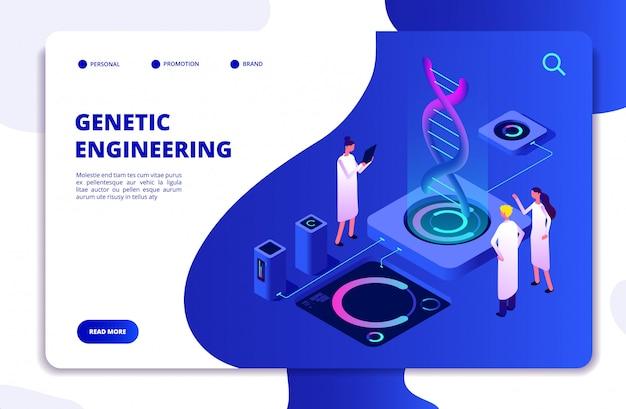 Modelo de site de bioquímica de nanotecnologia de dna e genoma humano