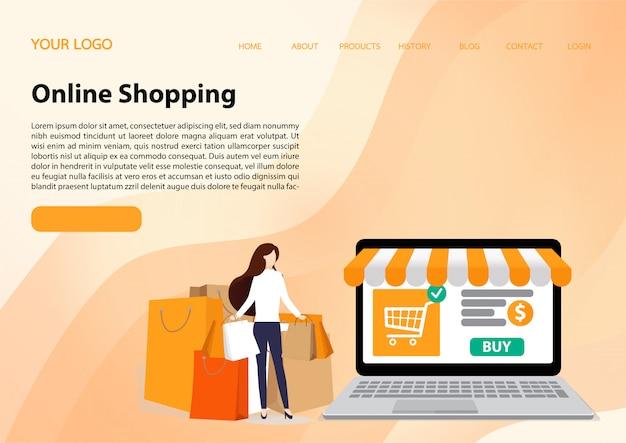 Modelo de site de compras online