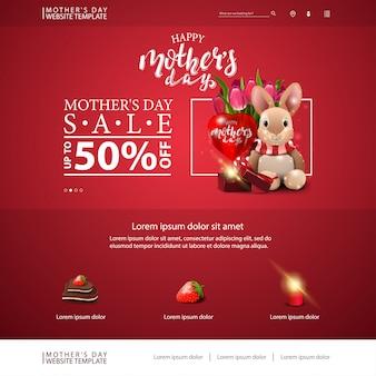 Modelo de site de desconto de dia das mães