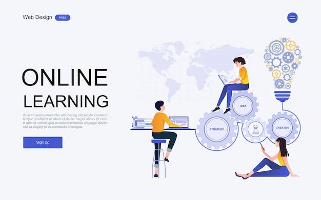 Modelo de site de educação on-line, treinamento e cursos.