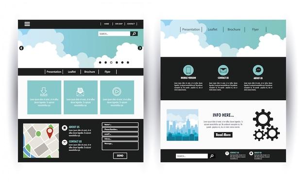 Modelo de site de negócios