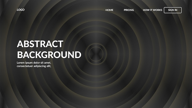 Modelo de site de página de aterrissagem com estilo abstrato moderno para sites