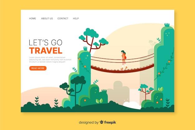 Modelo de site de página de destino de viagem