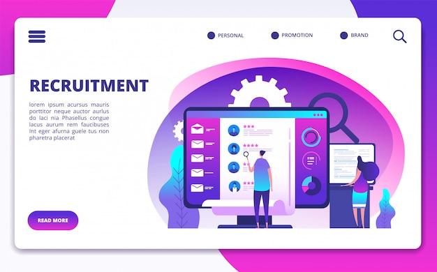 Modelo de site de recrutamento