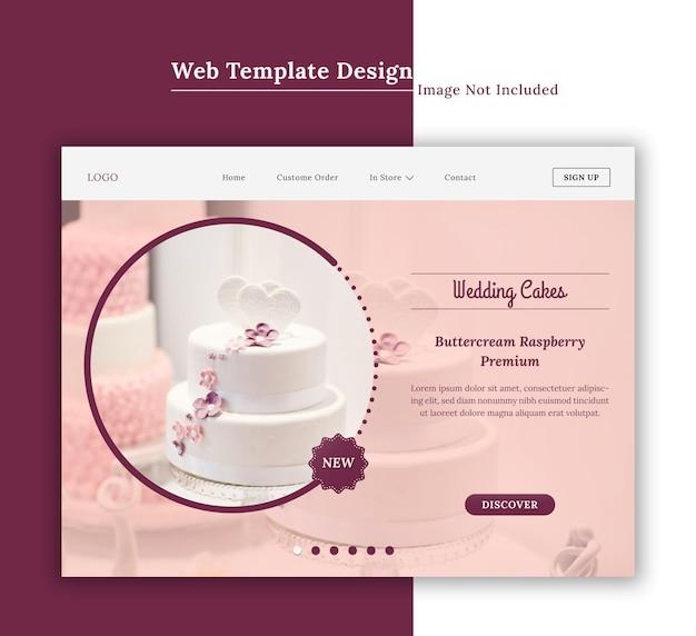 Modelo de site de restaurante ou padaria ou design de interface de usuário da página de destino