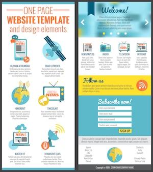 Modelo de site de uma página