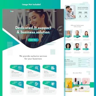 Modelo de site moderno da agência comercial