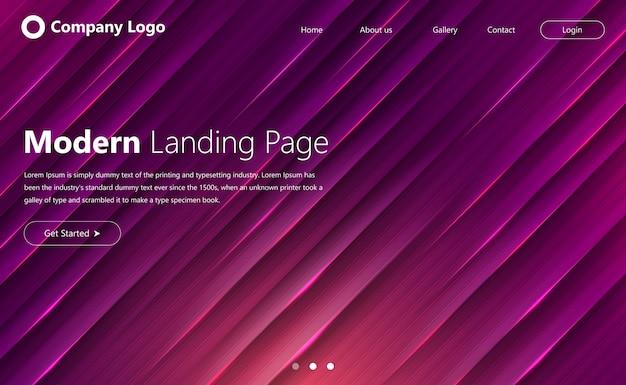 Modelo de site moderno para página de destino