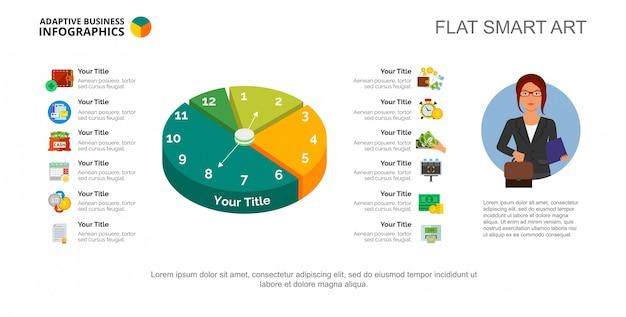 Modelo de slide de 12 opções de gerenciamento