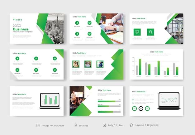 Modelo de slide de apresentação de powerpoint de negócios criativos