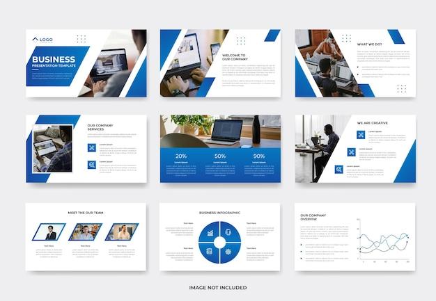 Modelo de slide de apresentação de proposta de projeto de negócios mínimo ou modelo de pwoerpoint do perfil da empresa