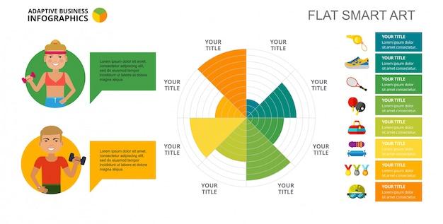 Modelo de slide de diagrama de esporte