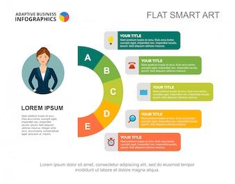 Modelo de slide de estratégia de negócios. Gráfico. Conceito criativo para infográfico, relatório.