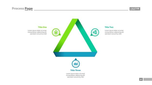 Modelo de slide de estratégia de triângulo