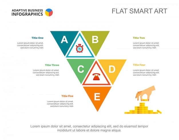Modelo de slide de gráfico de conceito de finanças