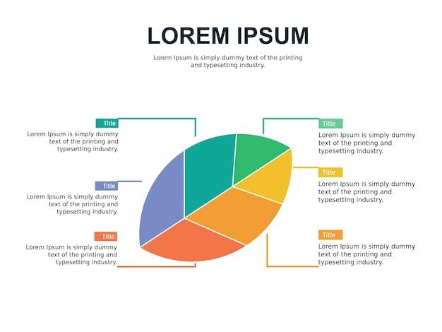 Modelo de slide infográfico e estatístico com folha