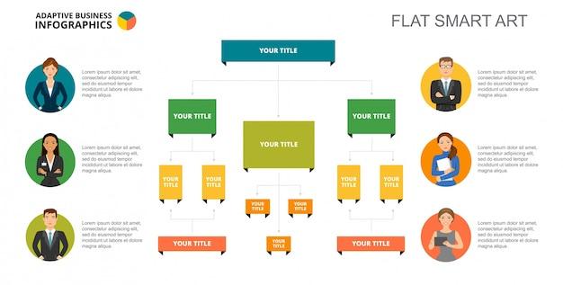 Modelo de slide infographics da árvore