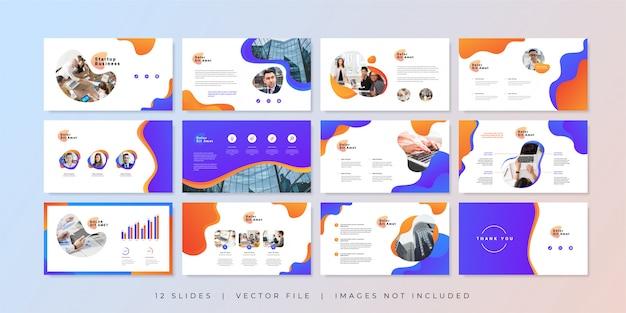 Modelo de slides de apresentação de negócios modernos