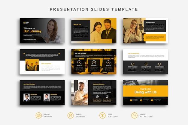 Modelo de slides de apresentação
